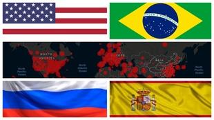 Los 10 paises del mundo con mas contagios por  coronavirus y casos