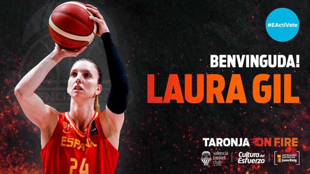 Laura Gil, la mayor coleccionista de medallas de España, apuntala al Valencia Basket