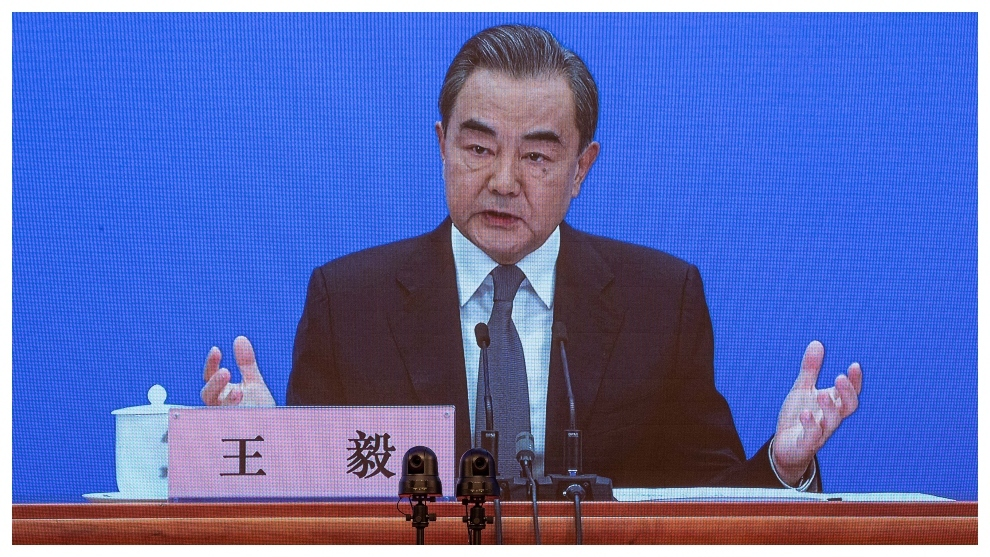 Wang Yi, ministro de Asuntos Exteriores de China.