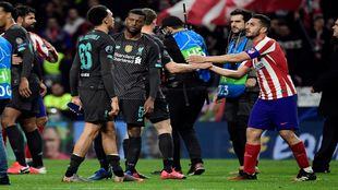 Atlético de Madrid vs Liverppol de Champions.
