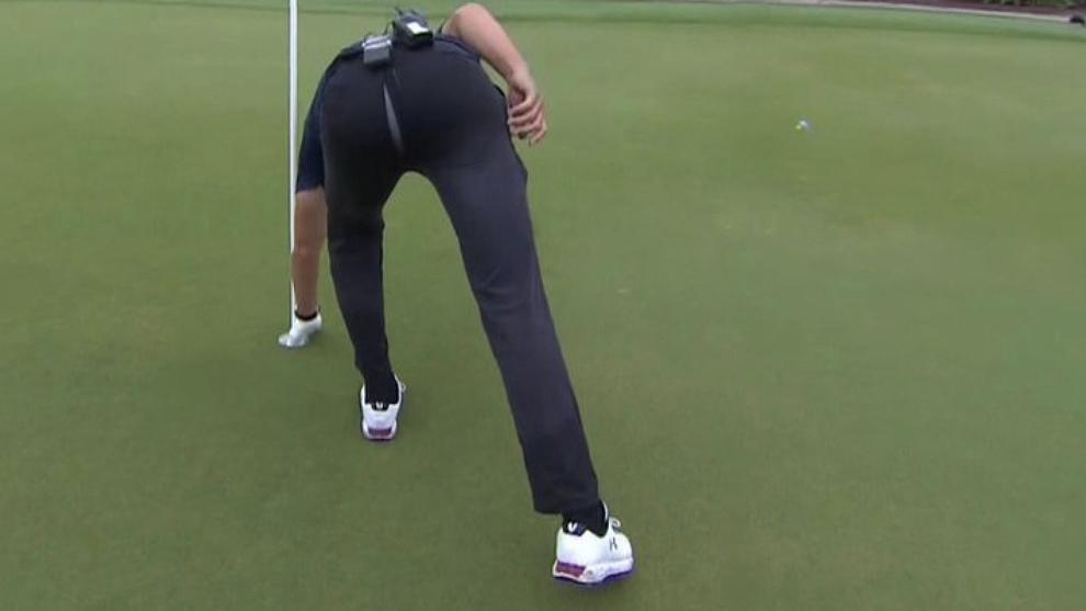 A Tom Brady se le rompieron los pantalones durante The Match:...