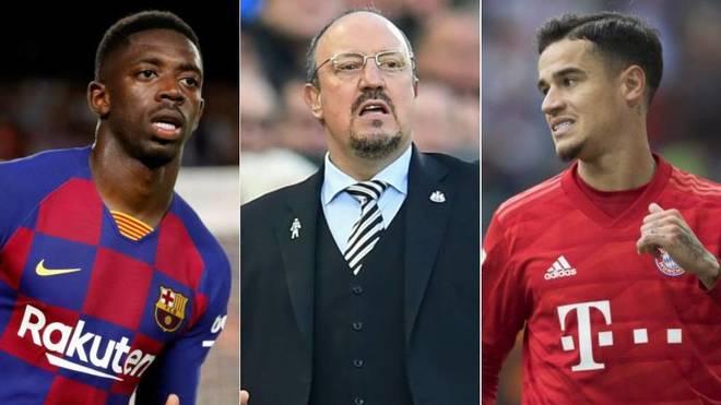 Dembelé, Benítez y Coutinho son algunos de los nombres que suenan en...