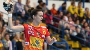 La central internacional Silvia Arderius, durante un partido con la...