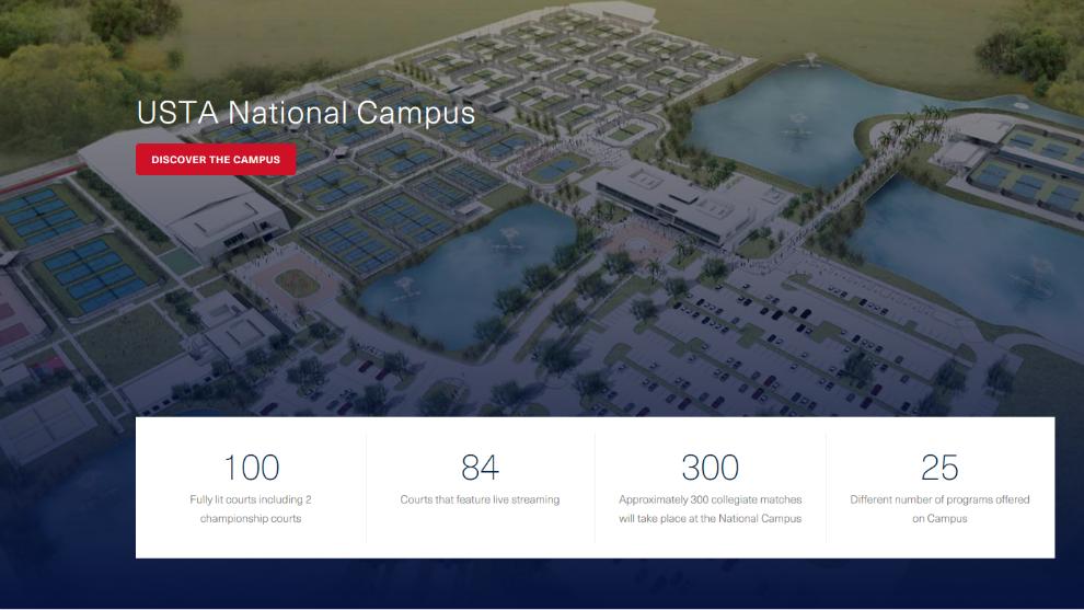 El complejo que tiene la USTA en Orlando