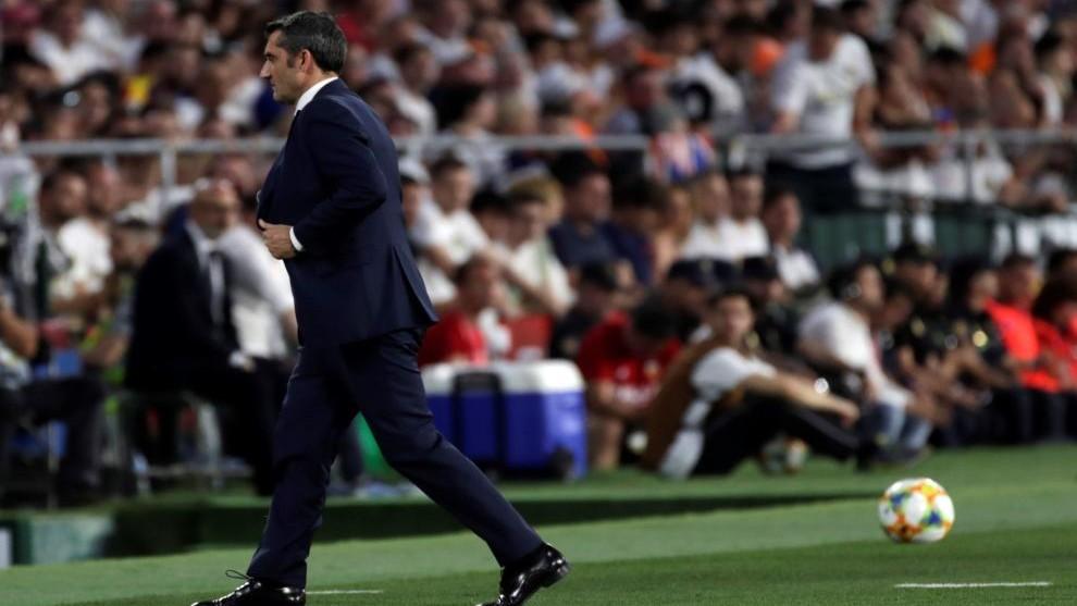 Ernesto Valverde, en la final del Benito Villamarín