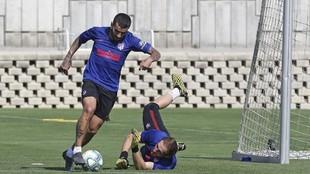 Correa, en un entrenamiento