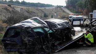 Accidente en Burgos, el pasado diciembre.