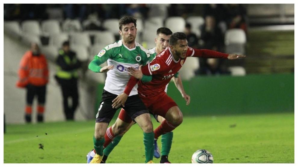 Nando, en el partido ante el Zaragoza