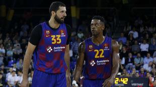 Mirotic y Higgins, las dos grandes estrellas del Barça
