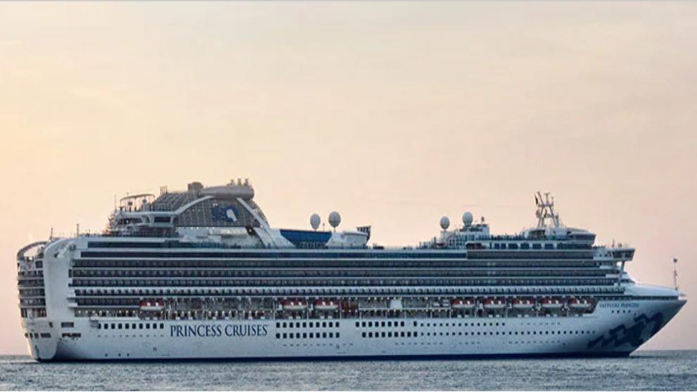 Imagen del lujoso crucero Diamond Princess que navega hacia a Malasia.