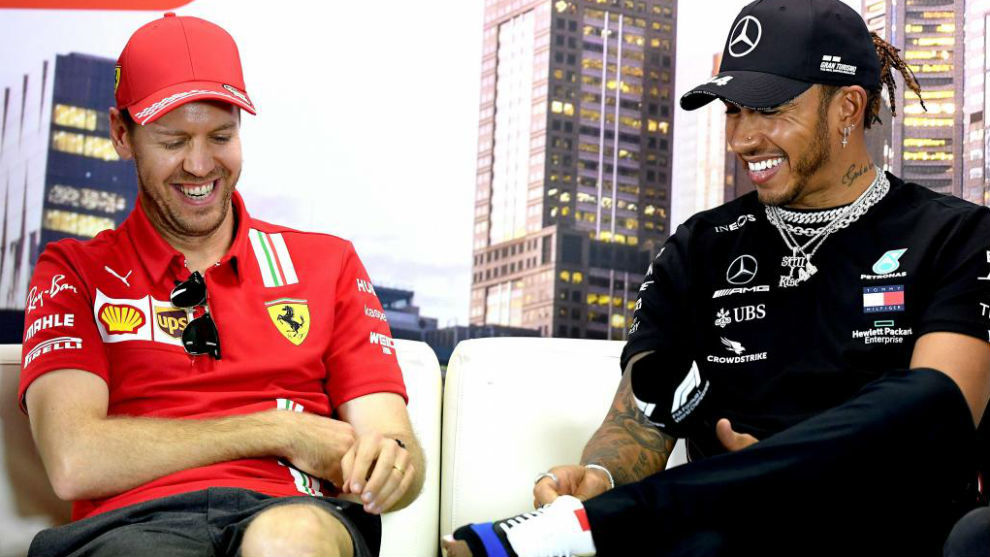 Vettel y Hamilton, en las vísperas del GP de Australia que no se...