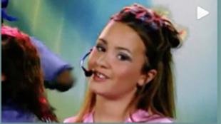 Demi Lovato a los 11 años en su primer videoclip.