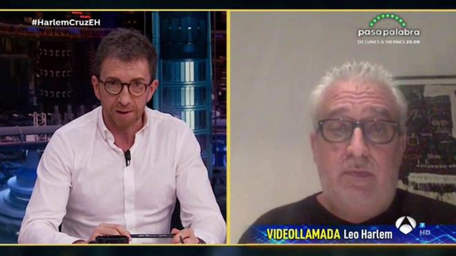 Pablo Motos y Leo Harlem en un momento de la entrevista.