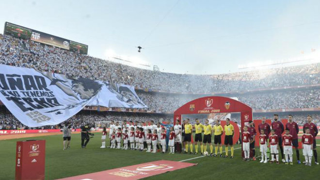 Valencia sell pieces of 2019 Copa del Rey final tifo