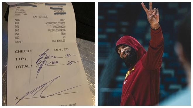 Andre Drummond se gasta 164 dólares en un restaurante y deja 1.000 de propina