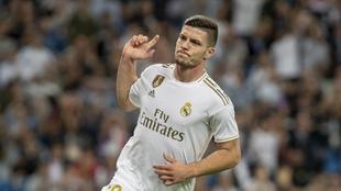 Luka Jovic, en el Bernabéu