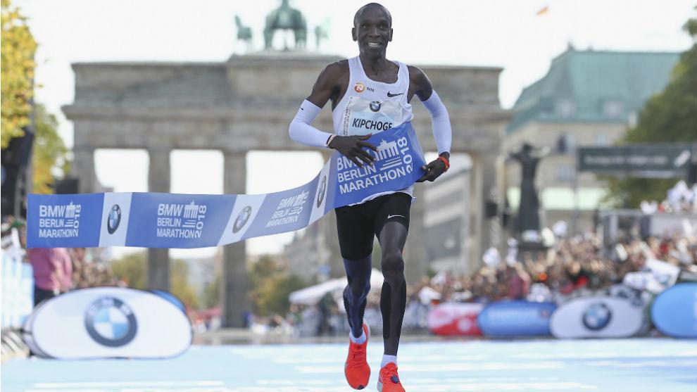 Kipchoge, en el maratón de Berlín
