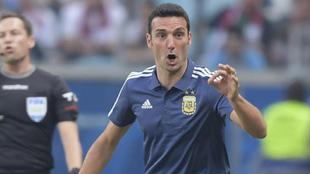 Scaloni, durante la Copa América.