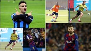 Lautaro, Alba, De Jong, Luis Suárez, Ansu Fati y Piqué.