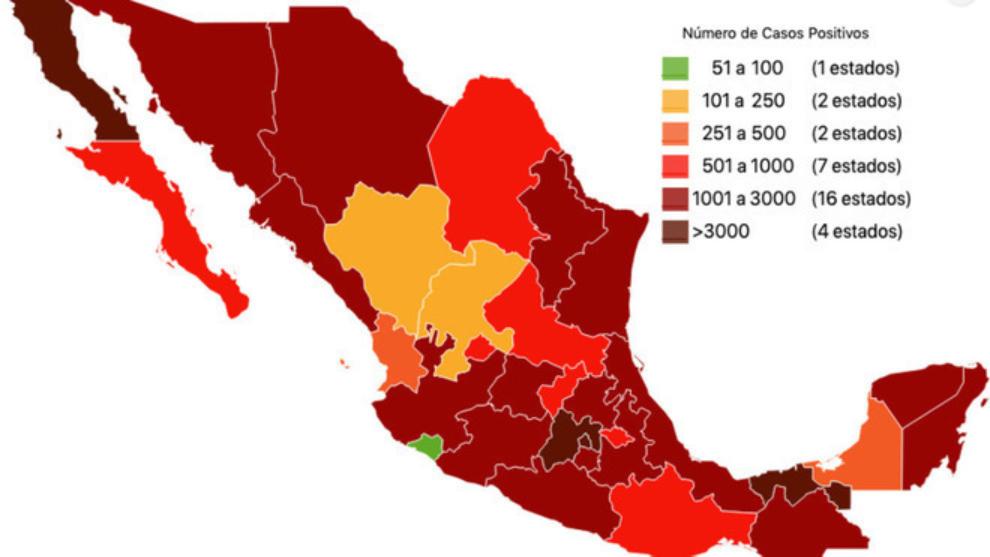Todas las cifras del coronavirus en México