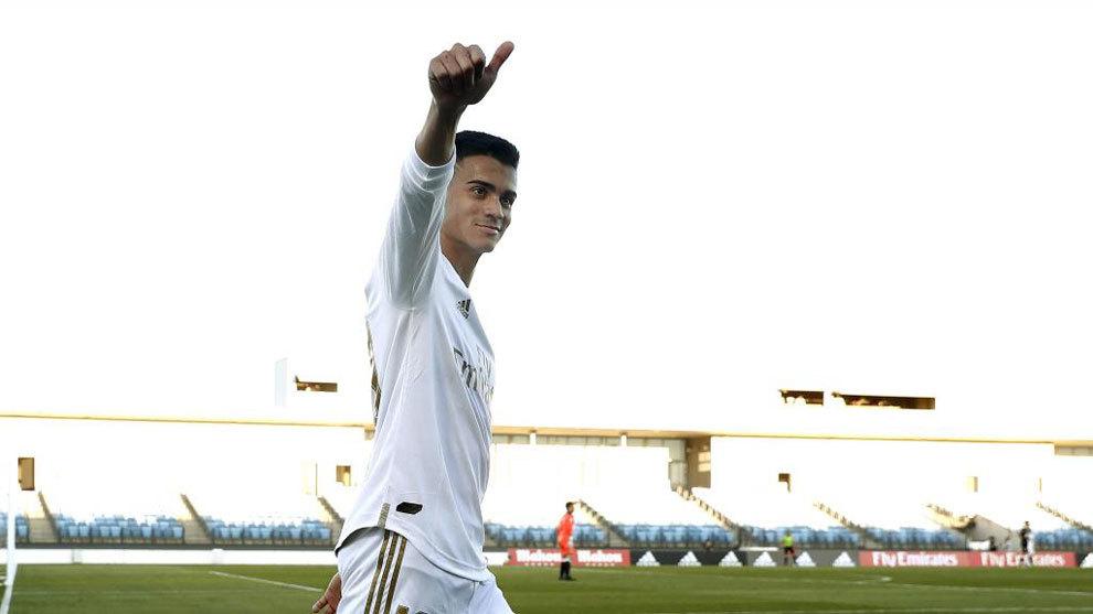 Reinier, durante un partido con el Castilla.