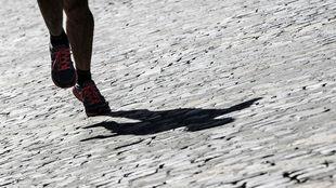Un corredor, en su entrenamiento