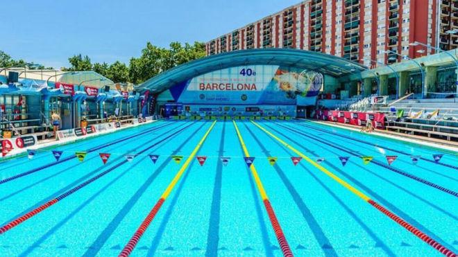 Piscina del club natación Sant Andreu.