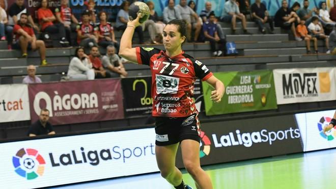 Amaya González de Garibay, en un partido con el Zuazo /