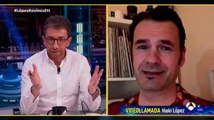 Pablo Motos e Iñaki López, en 'El Hormiguero' de Antena 3.