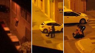 De locos: salta desde un segundo piso a la calle... ¡para encararse a la Guardia Civil!