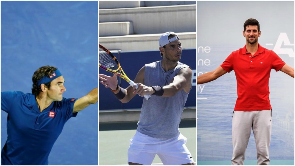 Federer, Nadal y Djokovic