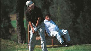 Olazábal, con Sergio Gómez, detrás.