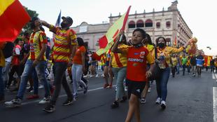 Manifestaciones en Morelia por la mudanza del equipo a Mazatlán