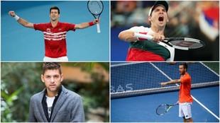 Djokovic, Lajovic, Krajinovic y Troicki