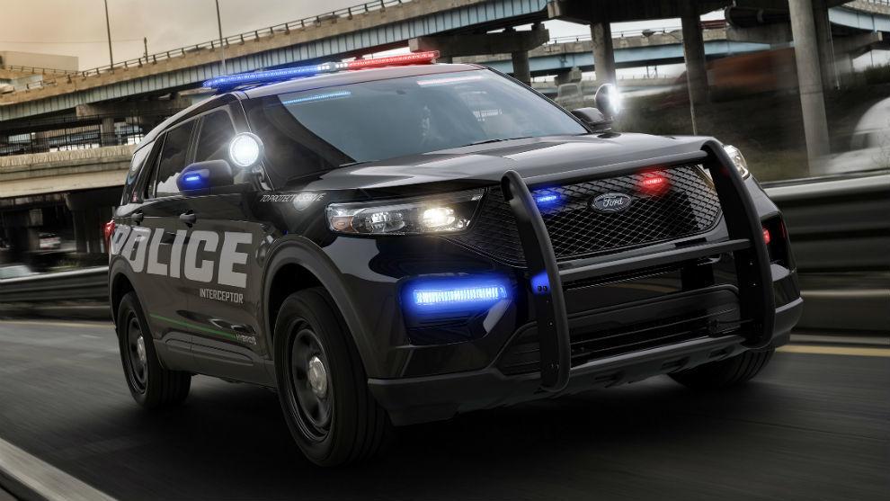 Un Ford Police Interceptor como el de la Policía de EEUU.