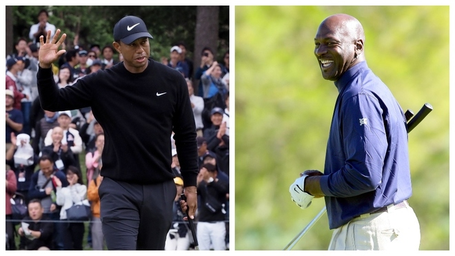 Tiger Woods y Michael Jordan