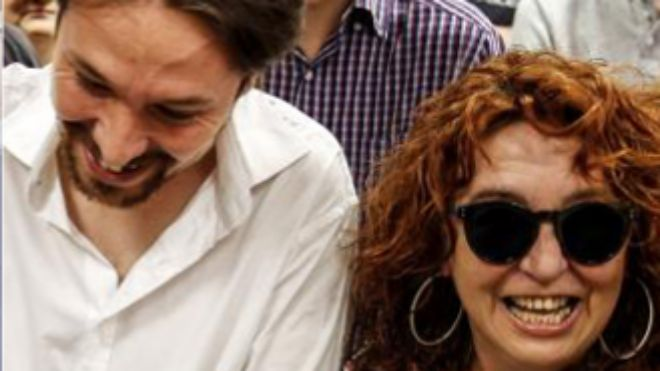 Pablo Iglesias y su madre Maria Luisa Turrión.