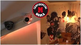 Detalle de la cámara del bar Corinto, en el que Borja Fernández se...