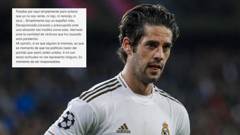 Isco: I'm neither green, nor red, nor orange, nor blue, I'm a disappointed and terrified Spaniard