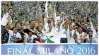 Sergio Ramos levanta la Champions conquistada por el Madrid en Milán...