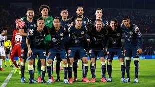 El América en uno de sus últimos partidos del Clausura 2020.