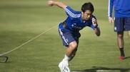 Kagawa, en un entrenamiento.