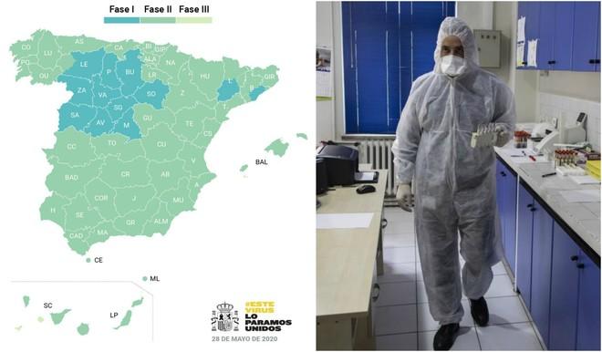 El mapa de los rebotres del coronavirus en España.