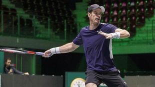 Andy  Murray en las finales de la Copa Davis, en Madrid.