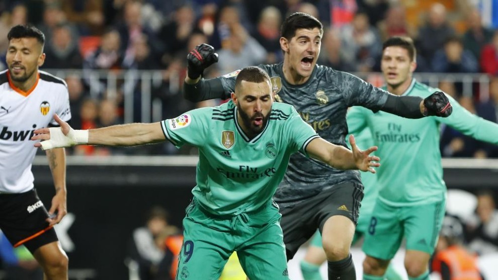 Benzema and Courtois' 11 finals