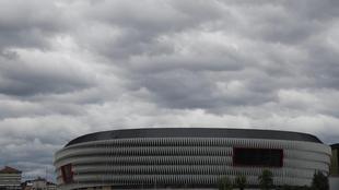 Campo de fútbol de San Mamés en Bilbao, sede de la eurocopa 2021.