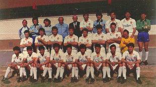 Plantilla del Valencia en la temporada 1986-87.