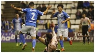 Liu, durante el partido de Copa ante el Espanyol