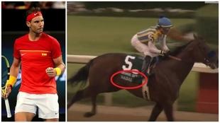 Rafa Nadal y el caballo retirado, que también se llama Nadal.