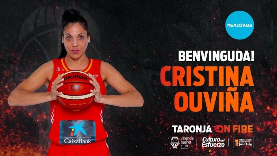 El Valencia Basket trae de vuelta a Cristina Ouviña y refuerza más su bloque nacional